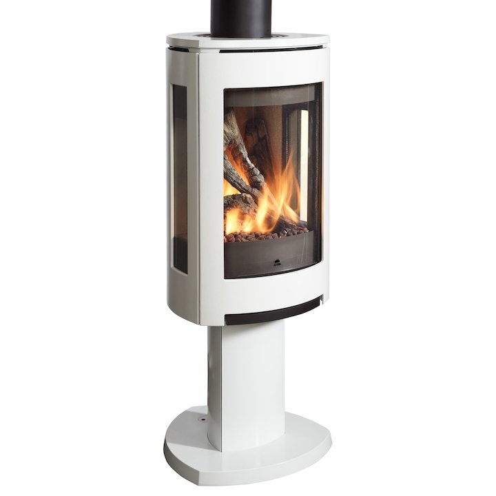 Jotul GF373 Balanced Flue Gas Stove Enamel White Natural Gas Manual Control - Enamel White