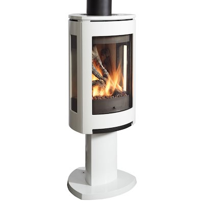 Jotul GF373 Balanced Flue Gas Stove Enamel White Natural Gas Remote Control