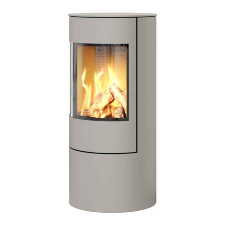 Rais Viva 100L Balanced Flue Gas Stove Nickel Metal Framed Door Solid Sides - Nickel