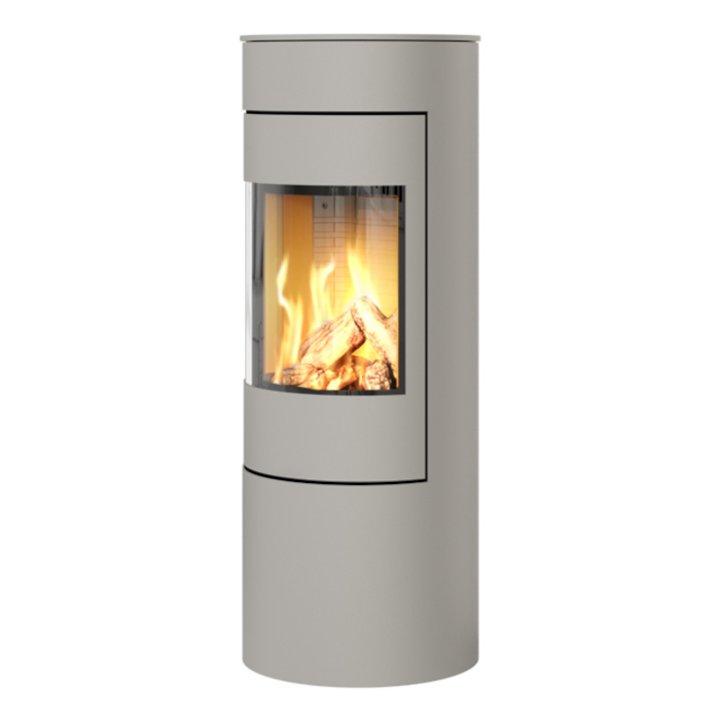 Rais Viva 120L Balanced Flue Gas Stove Nickel Metal Framed Door Solid Sides - Nickel