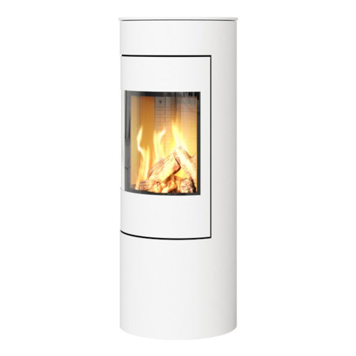 Rais Viva 120L Balanced Flue Gas Stove White Metal Framed Door Solid Sides - White