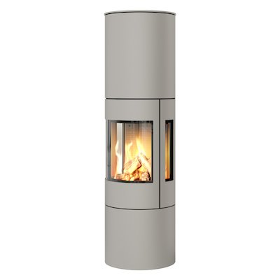 Rais Viva 160L Balanced Flue Gas Stove Nickel Metal Framed Door Side Glass Windows