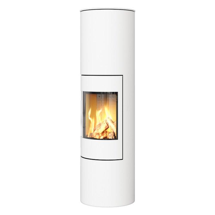 Rais Viva 160L Balanced Flue Gas Stove White Metal Framed Door Solid Sides - White