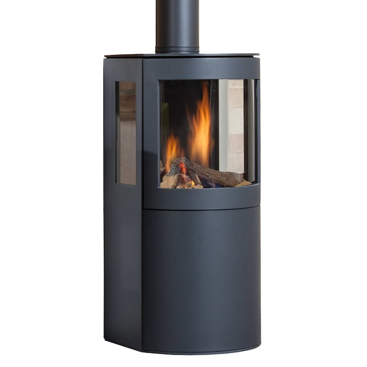 Wanders Balsa 100 Balanced Flue Gas Stove - Black