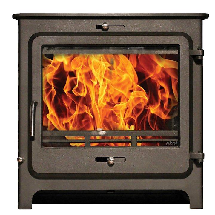 Ekol Clarity 30 Multifuel Boiler Stove - Black