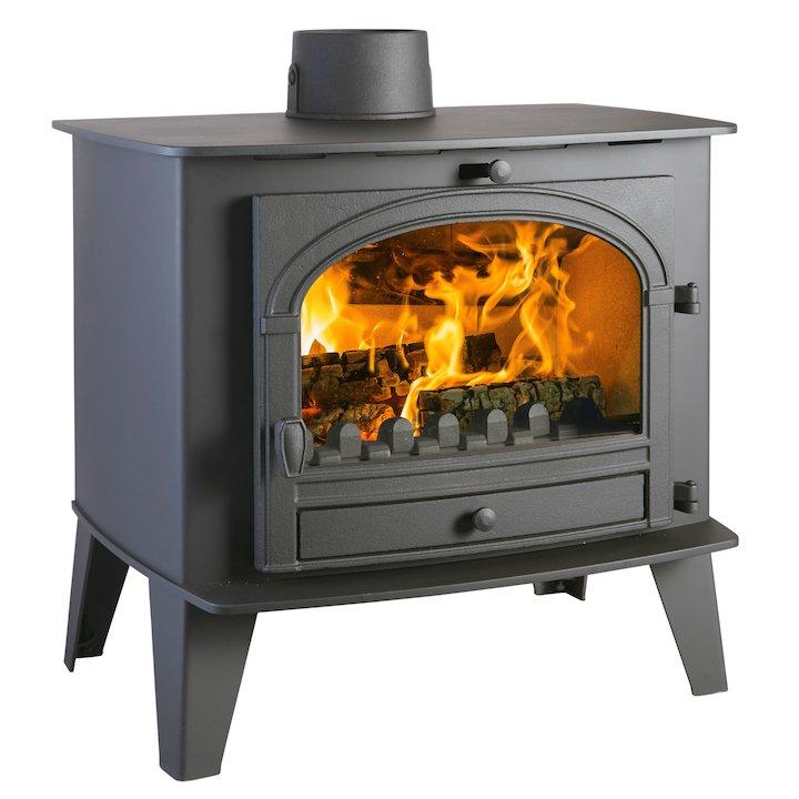 Parkray Consort 15 Multifuel Boiler Stove Black Single Door - Black