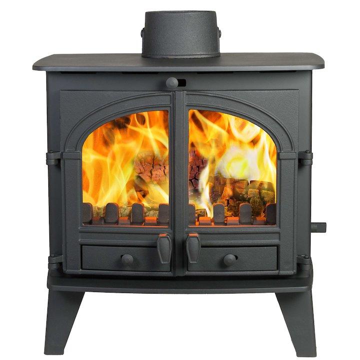 Parkray Consort 9 Multifuel Boiler Stove Black Double Doors - Black