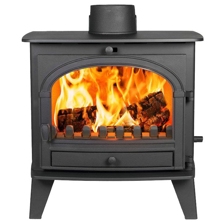 Parkray Consort 9 Multifuel Boiler Stove Black Single Door - Black