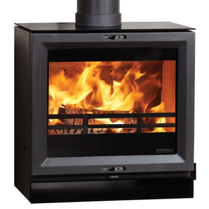 Stovax View 8HB Multifuel Boiler Stove - Black