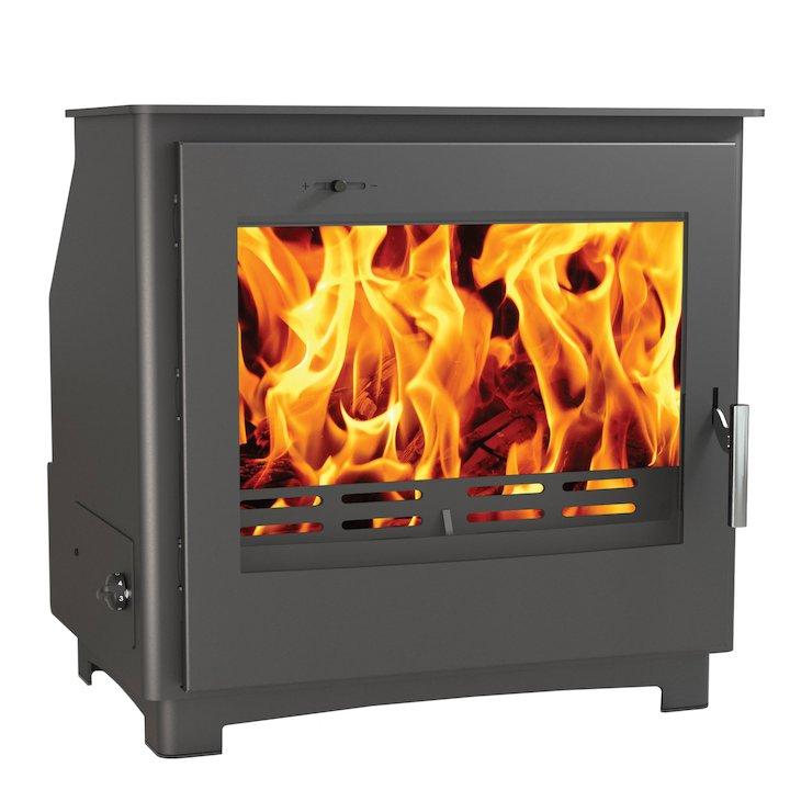 Arada Ecoboiler EBW12 Wood Boiler Stove - Midnight Black