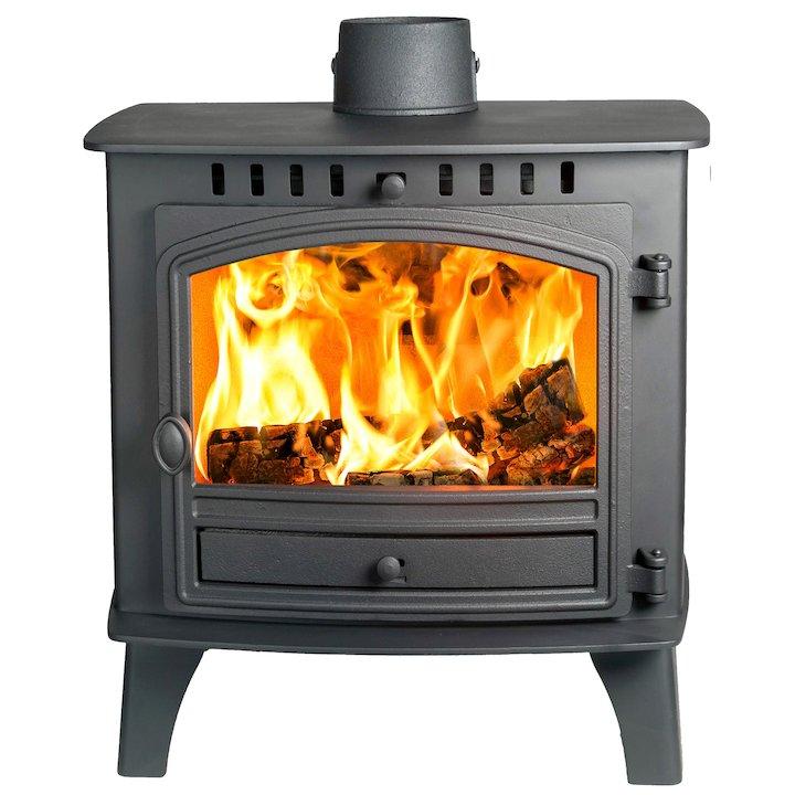 Hunter Herald 80b Wood Boiler Stove Black Single Door - Black
