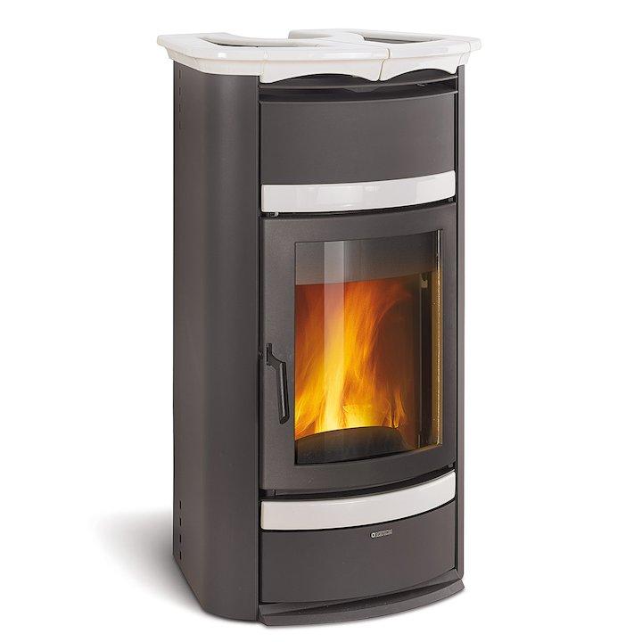 La Nordica Norma S Idro Classic DSA Wood Boiler Stove - Black