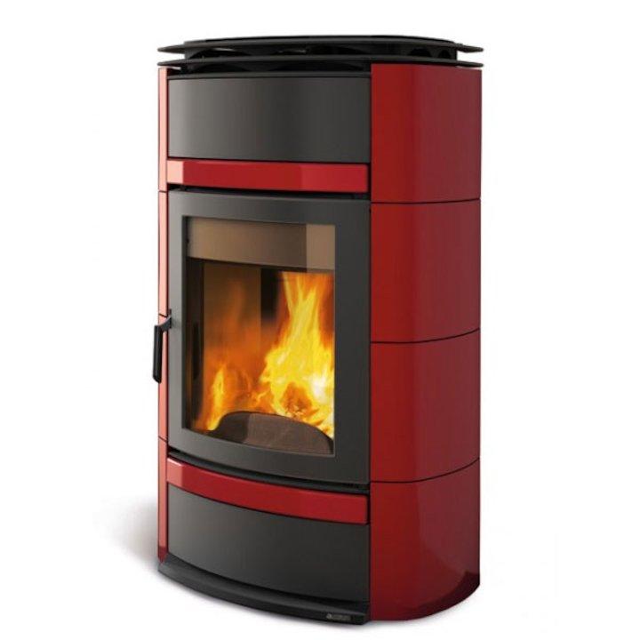 La Nordica Norma S Idro DSA Wood Boiler Stove - High Output - Bordeaux