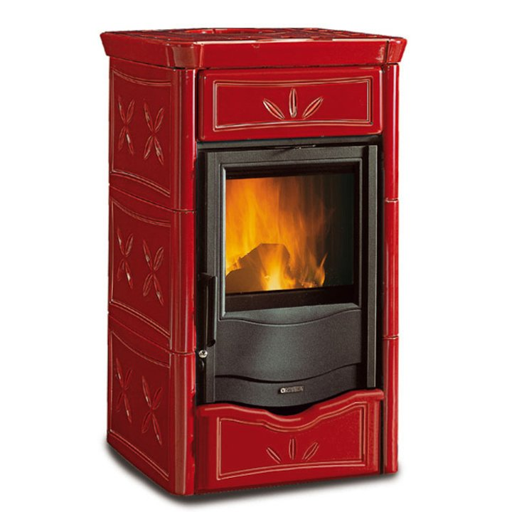 La Nordica Thermo Nicoletta DSA Wood Boiler Stove - Bordeaux