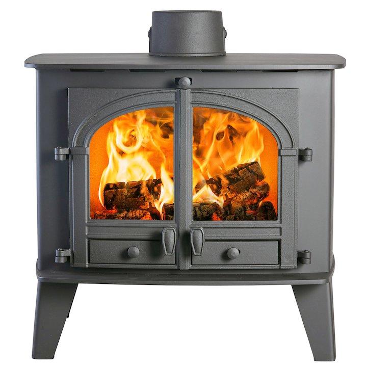 Parkray Consort 15 Wood Boiler Stove Black Double Doors - Black