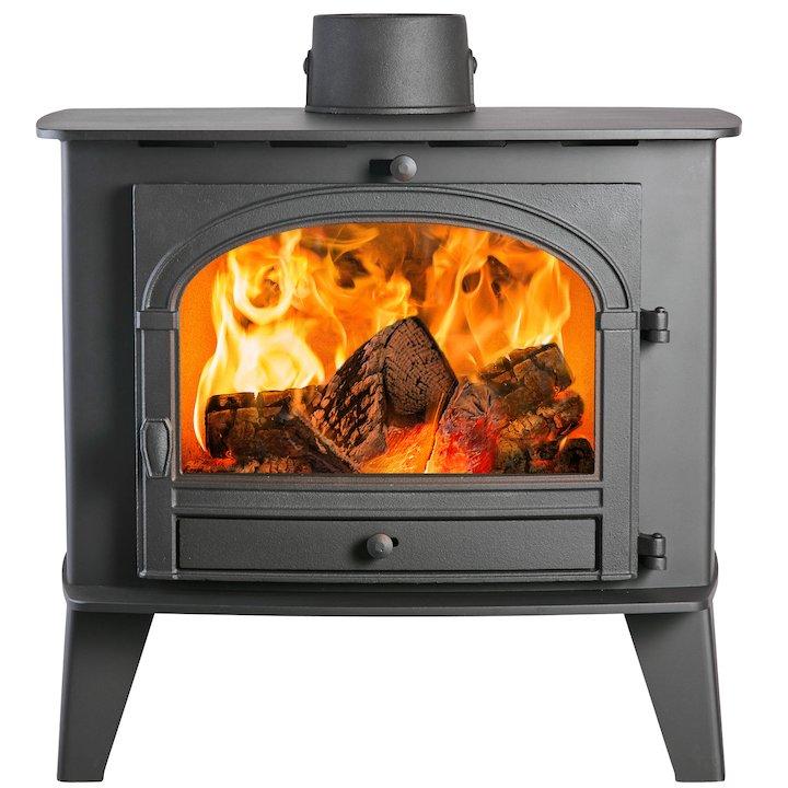 Parkray Consort 15 Wood Boiler Stove Black Single Door - Black