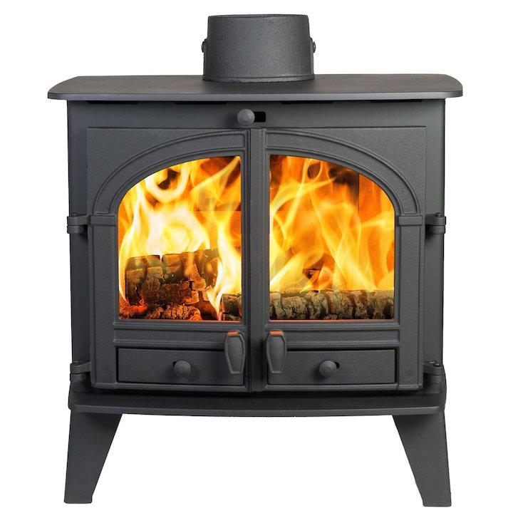 Parkray Consort 9 Wood Boiler Stove Black Double Doors - Black
