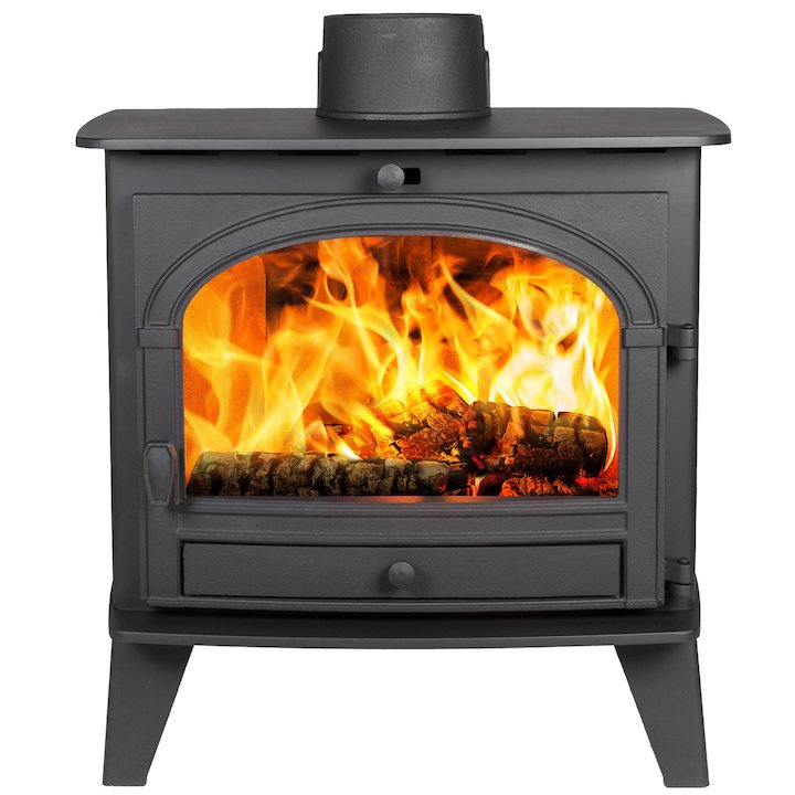 Parkray Consort 9 Wood Boiler Stove Black Single Door - Black