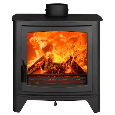 Parkray Aspect 80B Wood Boiler Stove Black Black Handles