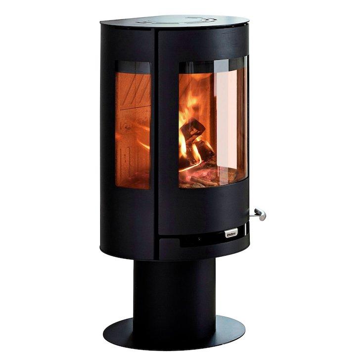 Aduro 9-3 Lux Wood Stove - Black Glass