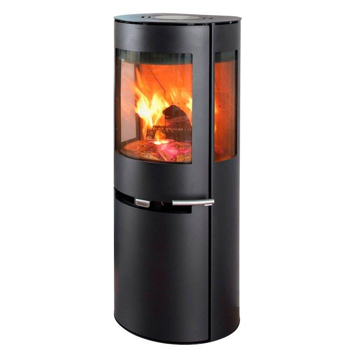 Aduro 9-5 Lux Wood Stove - Black Glass
