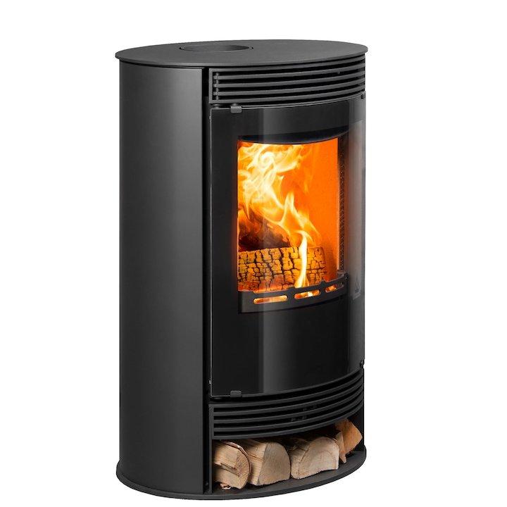 Cleanburn Stromstad Atta Multifuel Stove - Black