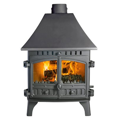 Hunter Herald 8 Double Sided HC Wood Stove - Double Depth