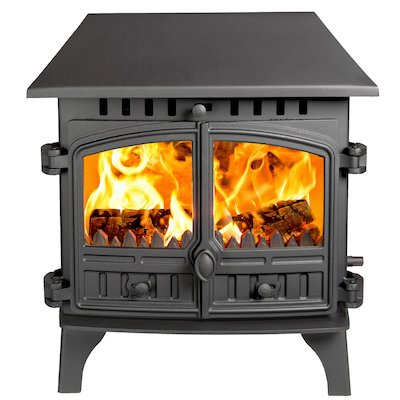 Hunter Herald 8 Double Sided LC Wood Stove - Double Depth