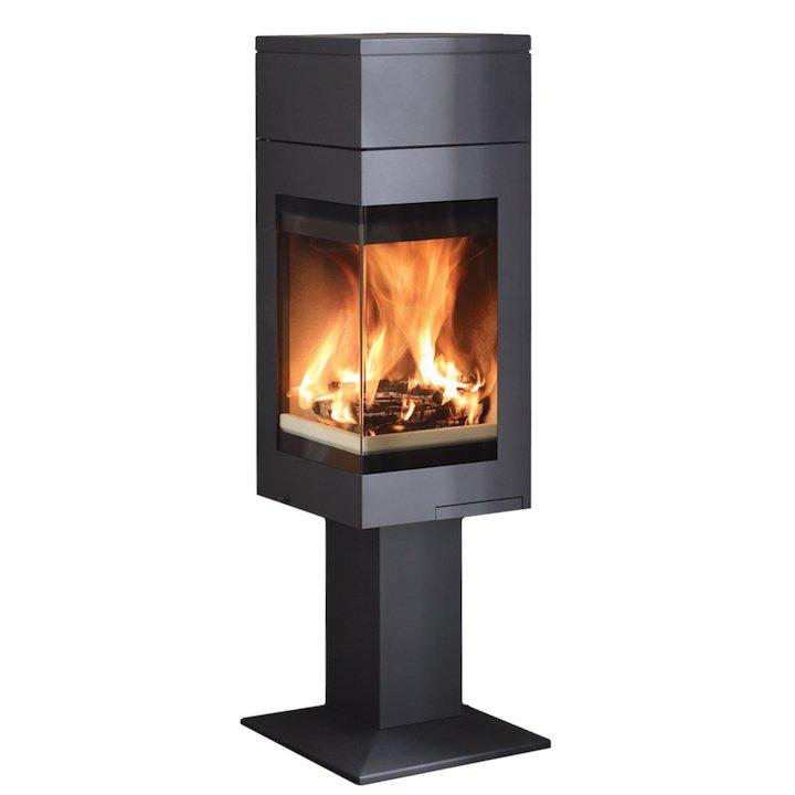 Nordpeis Quadro 1 Tall Wood Stove - Black