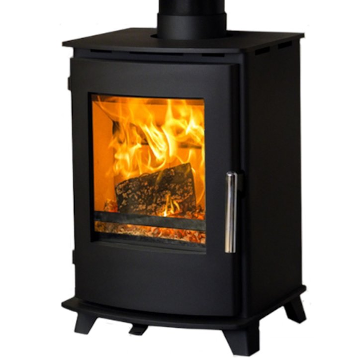 Pevex Newbourne 35FS Wood Stove - Black