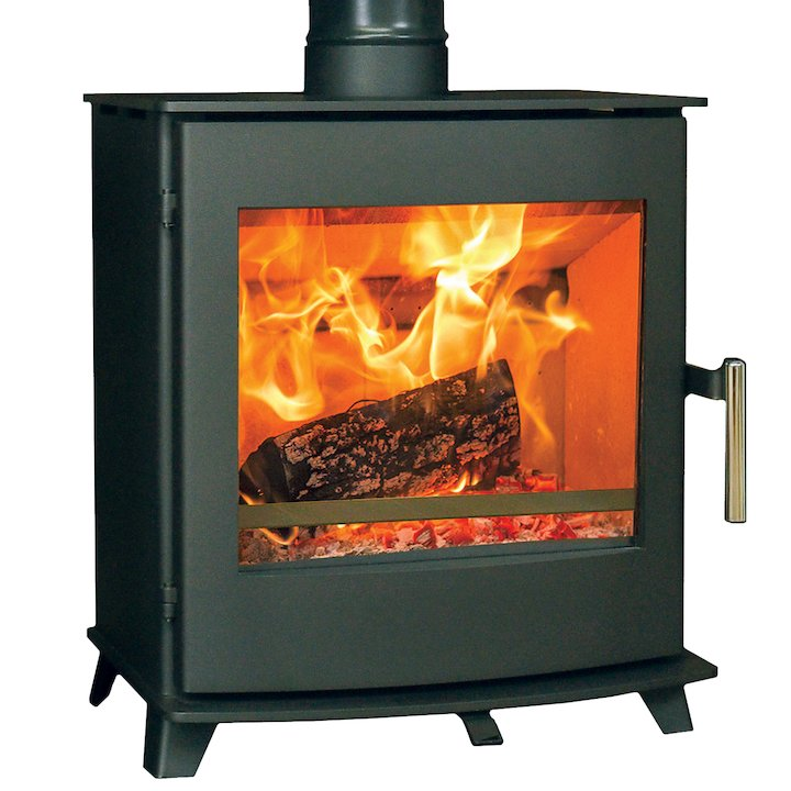Pevex Newbourne 40FS Wood Stove - Black
