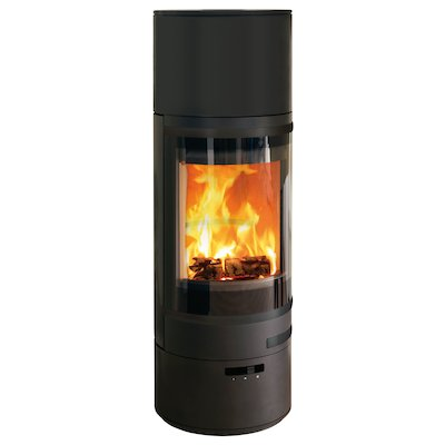 Scan 85 HL Wood Stove Black Black Trim