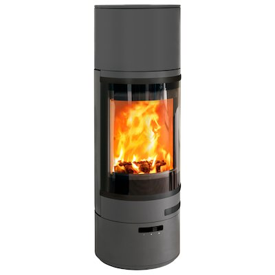 Scan 85 HL Wood Stove Grey Black Trim