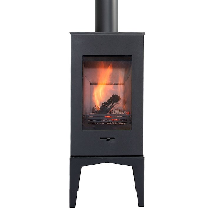Wanders Elm Feet Wood Stove - Black