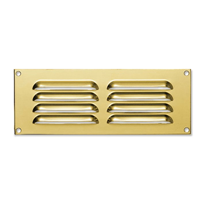 Stovax 24 Louvered Fixed Convection Air Grill - Brass