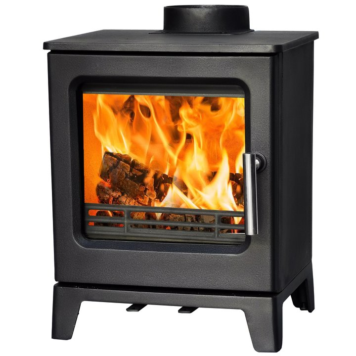 Eva UK Stream 4 Multifuel Defra Stove (Ecodesign 2022 ready) - Black