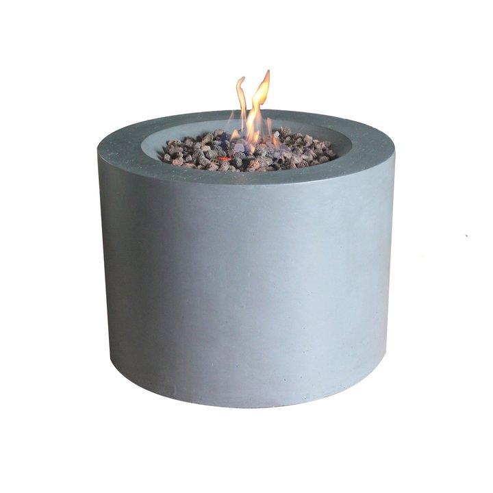 Sarin Concrete LPG Gas Firepit - Grey