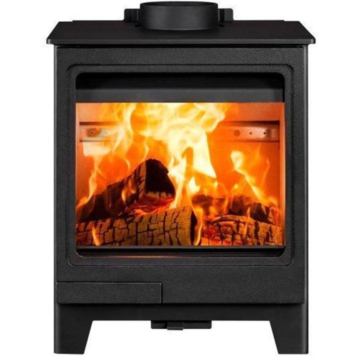 Herald Allure 4 Wood Burning Stove - Black