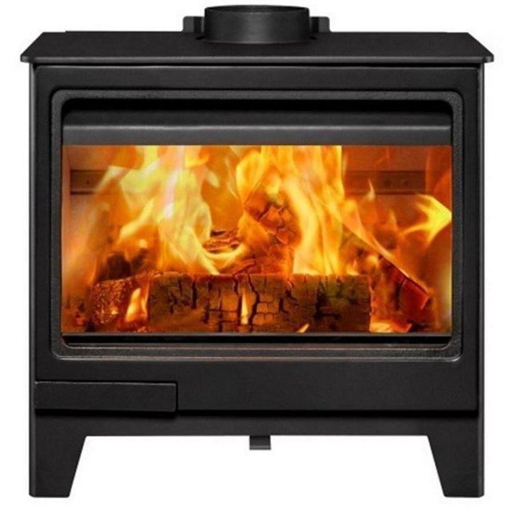 Herald Allure 7 Wood Burning Stove - Black
