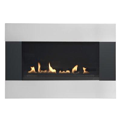 Burley Latitude Flueless Wall Mounted Gas Fire Black/Silver Natural Gas