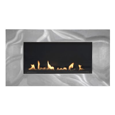 Burley Latitude Flueless Wall Mounted Gas Fire Silver LPG