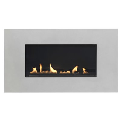 Burley Latitude Flueless Wall Mounted Gas Fire Silver Natural Gas