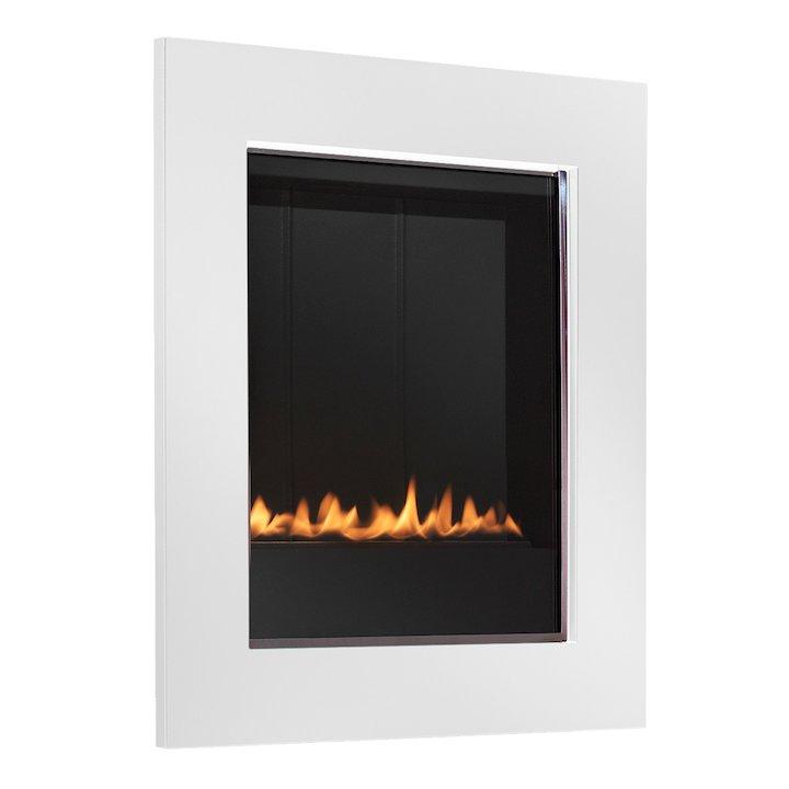 EkoFires 5010 Flueless Wall Mounted Gas Fire - Ivory