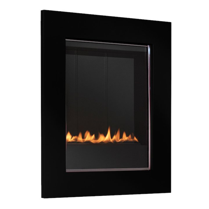 EkoFires 5010 Flueless Wall Mounted Gas Fire - Metallic Black