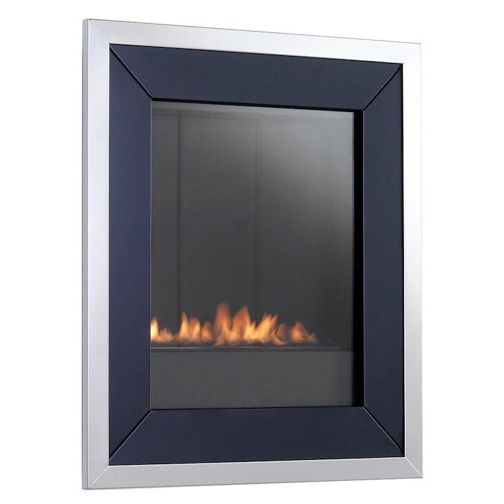 EkoFires 5020 Flueless Wall Mounted Gas Fire - Black
