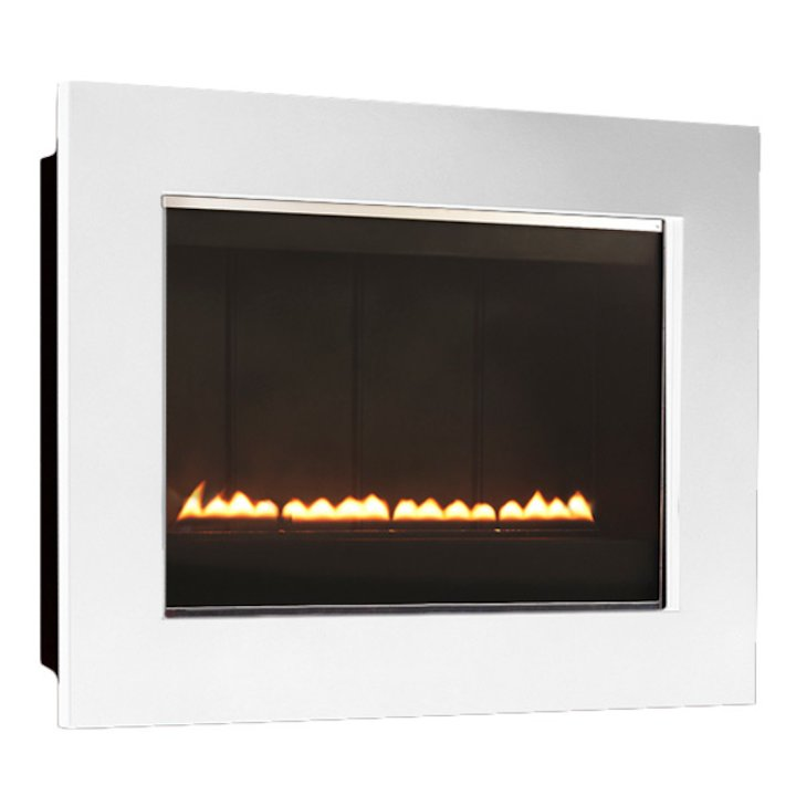 EkoFires 5050 Flueless Wall Mounted Gas Fire - Ivory