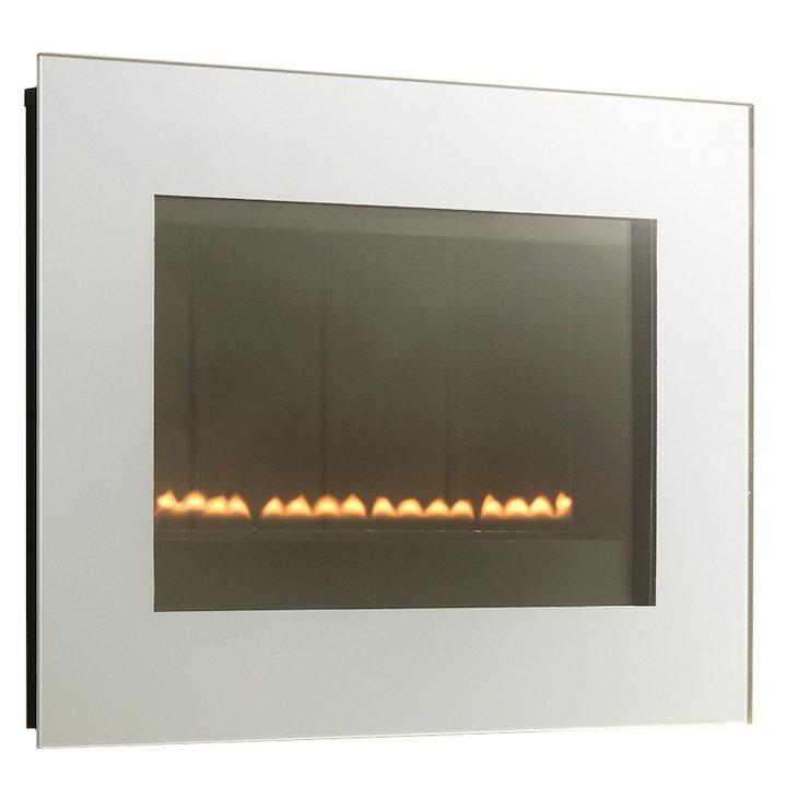 EkoFires 5060 Flueless Wall Mounted Gas Fire - Silver
