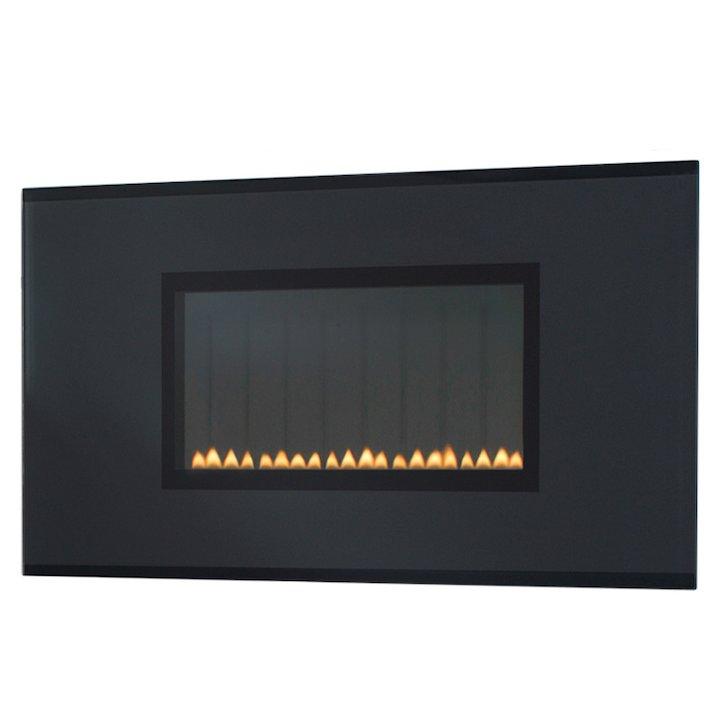 EkoFires 5070 Flueless Wall Mounted Gas Fire - Black