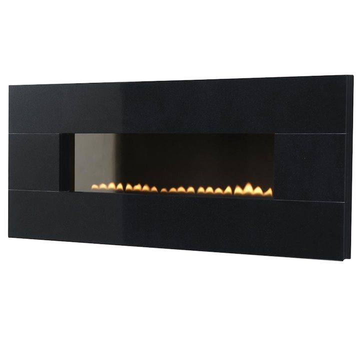EkoFires 5090 Flueless Wall Mounted Gas Fire - Black