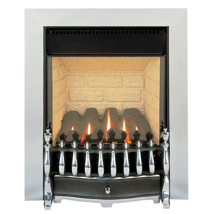 Burley Environ Flueless Inset Gas Fire - Aluminium